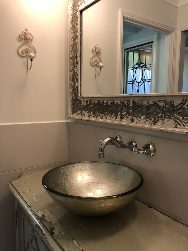 Stunning eclectic bathroom renovation