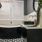 Beautiful black, white & grey colour schemed bathroom - renovation by Master Bathrooms & Kitchens